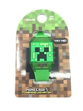 Accutime Minecraft Flashing LCD Kids Watch Green Mojang Boy or Girl New