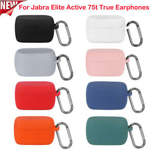 Silicone Case Cover Protective Shell for Jabra Elite Active 75t True Earphones