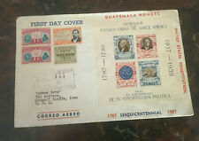 1937 GUATEMALA US CONSTITUTION LARGE FIRST DAY COVER