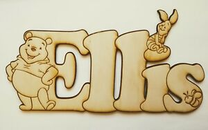 Winnie the Pooh style Personalised Wooden Letters Names up to 7 letters!