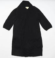 Michael Kors Womens Size M Cotton Blend Black Cardigan (Regular)