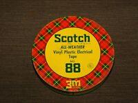"VINTAGE 4"" ACROSS SCOTCH VINYL PLASTIC ELECTRICAL TAPE 88 TIN CAN  *EMPTY*"