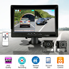 """7"""" Split Screen Monitor DVR 4PIN AHD Front Rear View Cameras 1080P For Bus Truck"""