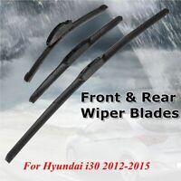 26'' 14'' 13'' Front Rear Windshield Window Wiper Blades For Hyundai i30