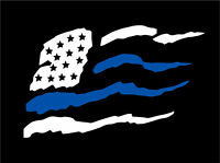 Sizes Var Thin Blue Line Decal Tattered Flag REFLECTIVE FATHER//SON Decal