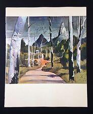 "1966 Australia Full Color Art Plate ""THE GLASSHOUSE MOUNTAINS"" McIntyre Litho"