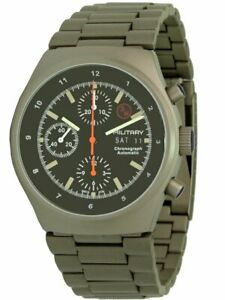 Military Bund 3H Herrenuhr Automatik-Chronograph Flieger-Design Militäruhr