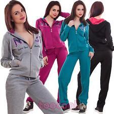 Tuta donna completo pantaloni felpa cappuccio fitness sport zip nuova LD6006