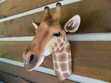 GIRAFFE LARGE WALL MOUNT HEAD STATUE JUNGLE AFRICA TAXIDERMY