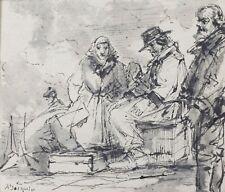 Georges Arthur JACQUIN (1851-1932) dessin Marne Bretagne Normandie marine