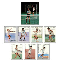 NIC8702 Tennis block and 7 stamps