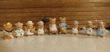 9 Vintage Homco Porcelain Mini Bear Figurines