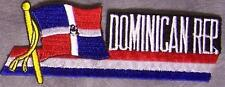 Embroidered International Patch National Flag of Dominican Republic NEW streamer