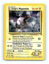 Lt. Surge's Magnemite 50/132 Uncommon Gym Heroes Unlimited Pokemon Cards NM