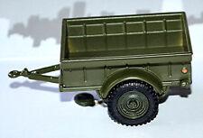 Div 1/4 tonne Etats-unis militaire remorque 1 43 Cararama