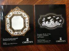 CHRISTIE'S  2 cataloghi  Aste Londra : Mobili, Sculture, Tappeti, Oggetti d'arte