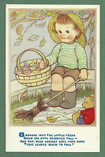 """1970'S PHYLLIS PURSER PC """"I WONDER WHY THE LITTLE TREES"""" AUTUMN THEME"""