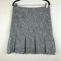 Brooks Brothers Women's Size 8 Black White Pleated Suit Skirt