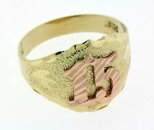 New 14k Solid Yellow And Rose Gold Sweet 15 Quinceanera Anos Birthday Ring Band