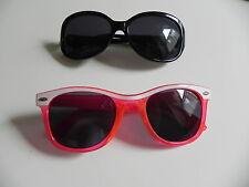 2 par de gafas de sol de estilo retro 80s-Negro y Marco rojo y blanco que bonito!