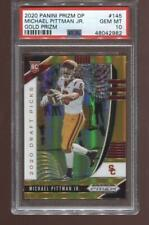 Michael Pittman Jr. RC 2020 Panini Prizm Draft #145 Gold 10/10 USC Rookie PSA 10