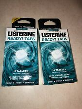 LISTERINE READY! TABS(16 Chewable Tablets) Clean Mint ( 2 Boxes) 32 Tabs Total