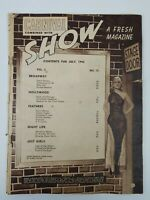 CARNIVAL COMBINED WITH SHOW MAGAZINE JULY 1942 PATRIOTIC GIRLS