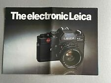 Leica R3 Electronic,The Electronic Leica,  A4  4 Page Fold-out  Brochure