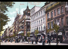 BERLIN (ALLEMAGNE ) CAFEBAUER-HOTEL & COMMERCES / KRANZLERECKE animé début 1900