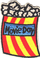 """""""MOVIE DAY"""" IRON ON EMBROIDERED PATCH - MOVIES - SHOW - ENTERTAINMENT"""