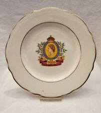 Coronation of Her Majesty Queen Elizabeth II 1953 Plate 7 inch gold accents