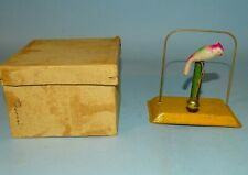 PARROT CELLULOID/TIN RUBBER BAND TOY ORIGINAL BOX JAPAN