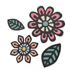 NEW Sizzix Thinlits 660499 Intricate Native Florals 4x flower & leaf craft dies