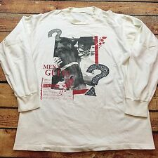 90s VTG GUESS JEANS SPELLOUT LOGO Long Sleeve T Shirt Cowboy L Hip Hop ASAP