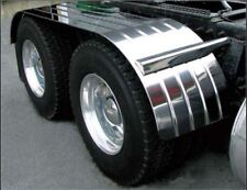 "120"" Tandem Semi Truck Fender Ribbed Stainless Steel with Beaded Edge 1 Pair"