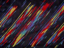 Akustikstoff Bespannstoff bunte Streifen Black Magic 1,2 x 0,7 Mtr