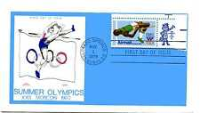 C97 31c High Jumper, Olympics 1980, Colonial, zip tab single, FDC