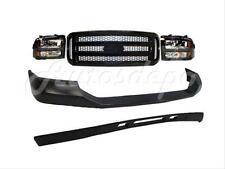 05-07 FORD F250 HARLEY DAVIDSON FRONT BUMPER PAD VALANCE GRILLE BLK HEADLIGHT 5P
