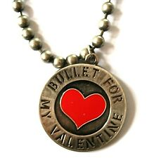 BULLET FOR MY VALENTINE Official Metal Pendant+Ball Chain BFMV (NOT shirt patch)