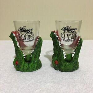 2 x Crocodile 3D Shot Glasses Daintree North Queensland