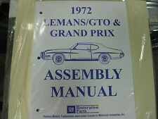 1972 GTO, LEMANS, TEMPEST, GRAND PRIX (ALL MODELS) ASSEMBLY MANUAL