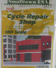 Smalltown USA HO Scale Cycle Repair Shop Building Kit 699-6019