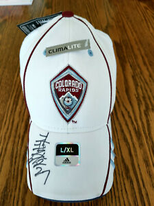 MLS Colorado Rapids White Fitted Hat by Adidas, Size L/XL, Autographed
