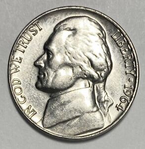 1964 D Jefferson Nickel 5¢ Cents Circulated Coin  (3087)