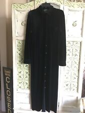 RALPH LAUREN Dress Black Velvet Traditional Classic Button down Collar