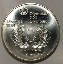 1976 Canada 🇨🇦 RCM 5 Dollars Silver Montreal Olympic Games Only 97,431 Minted