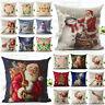 Case Car Christmas Sofa Home Cushion Throw Gifts Cover Xmas Pillow Santa Decor