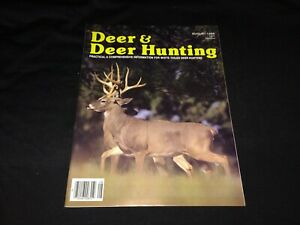 "August 1986 ""Deer & Deer Hunting"" Magazine~Muzzleloader, Tree Stands, Tactics +"