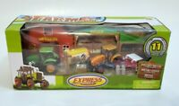 Farm Playset Express Wheels Tractor Diecast Metal & Plastic 11 Pieces New
