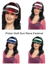 Women's Men's Fancy Dress Sun Visor Poker Hat Golf Gay Pride Stag Rave 80's Fun